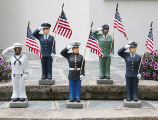 Armed Forces Set of five military branches Statues 27
