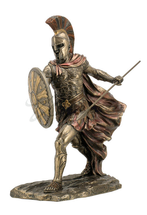 Achilles Statue With Sword And Spear Gladiator