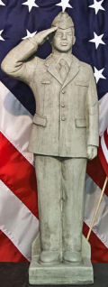 Air Force Airman African-American Garden Statue