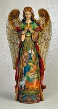 Angel Statue with Nativity Scene