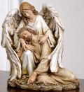 Angel with Fallen Christ Statue