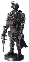 Armed Forces Navy Seal Soldier Sculpture