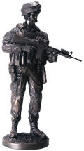 Armed Forces Rifleman Soldier Sculpture