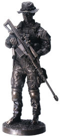 Armed Forces Sniper Soldier Sculpture