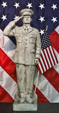 Army Soldier Cement Garden Sculpture