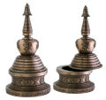 Asian Stupa Box Sculpture Reproduction