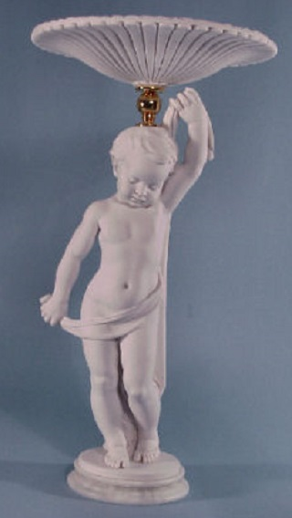 Cherub Child With Platter Statue 22