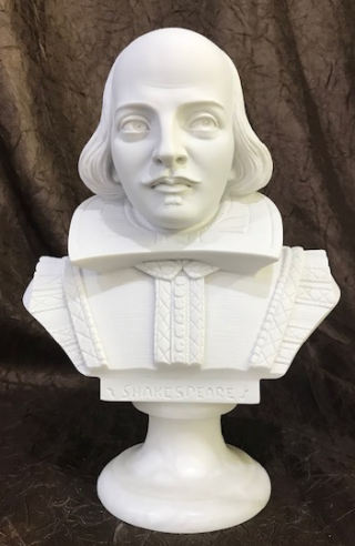 Shakespeare Sculptural Marble Bust 8