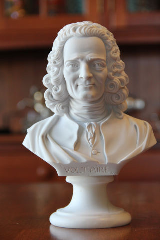 Voltaire Bust Author & Philosopher Marble Portrait
