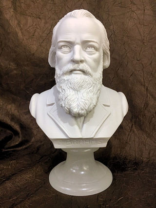 Brahms Composer Bust Marble Statue 9.5