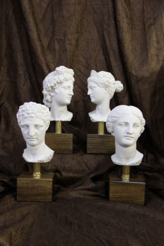 Gods and Goddess Bust Set of 4 Sculpture
