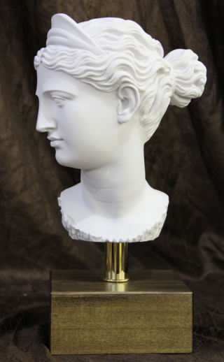 Head of Diana Bust on Base Statue