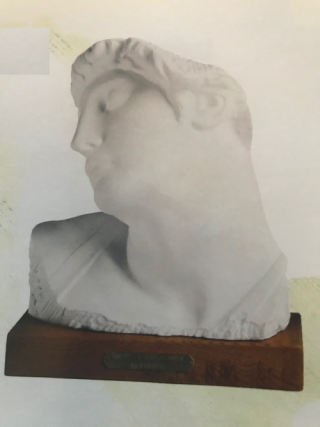 Dying Slave Bust Marble Michelangelo Statue