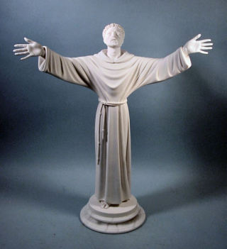 Saint Francis Marble Sculpture 26