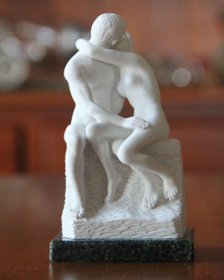The Kiss Rodin Marble Sculpture