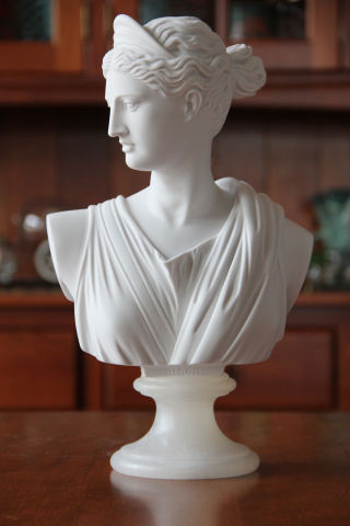 Diana of the Hunt Goddess Bust Sculpture 13