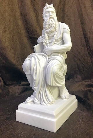 Moses Sculpture On Alabaster Base 13