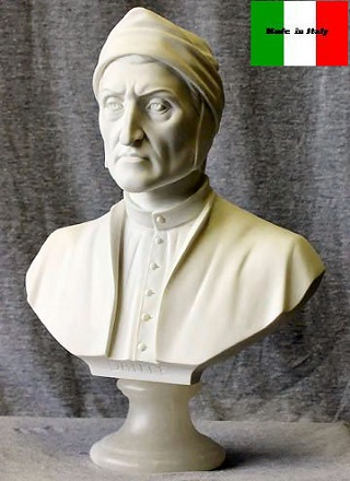 Dante Bust Head Statue Poet of Italy 13