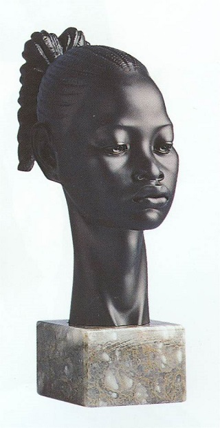 African Princess Sculpture Portrait Bust 13