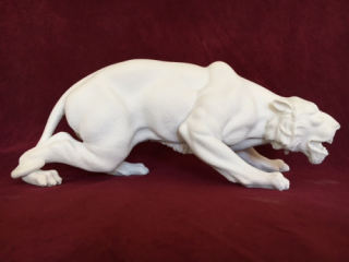 Crouching Panther Marble Sculpture 9
