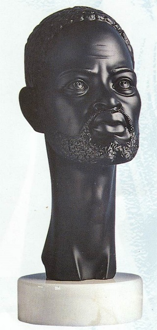 African Male Bust 14.5