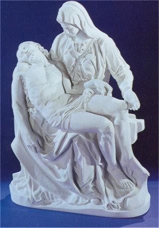 Pieta By Michelangelo Sculpture Marble 28