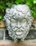 Bacchus Wall Mask Plaque Sculpture
