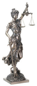 Blind Lady Justice Statue 12.5