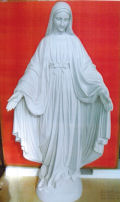 Bonded Marble Virgin Mary Sculpture 39.5