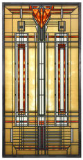 Bradley House Skylight by Frank Lloyd Wright Art Glass Replica
