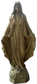 Bronze Blessed Mother Sculpture Life-Size