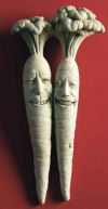 Bunches Of Fun - Carrots Sculptural Plaque