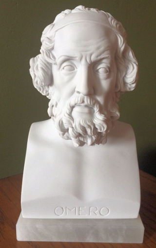 Homer Bust Marble Statue 9