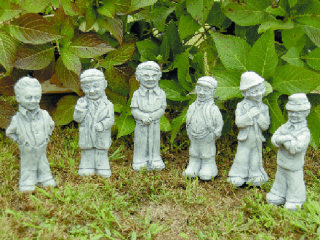 Leprechauns Set of Six Garden Statues