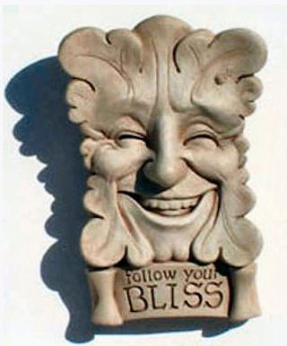 Follow Your Bliss Wall Plaque Greenman