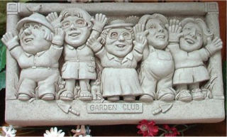 Garden Club Wall Plaque Sculpture