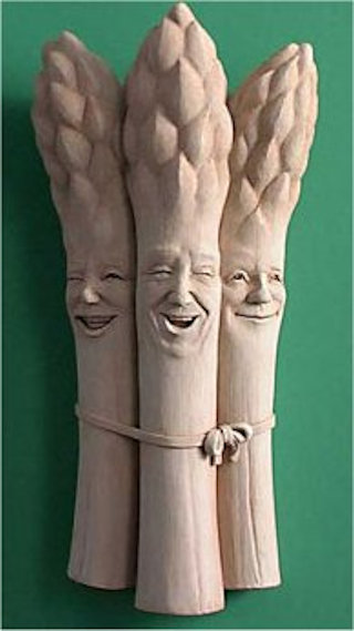 Asparagus Pickled Wall Statue By George Carruth