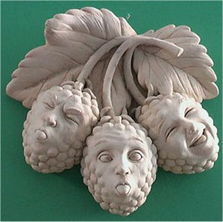 Razz-berries Wall Plaque Sculpture