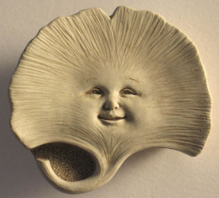 Casey Sprout Sculptural Wall Plaque Ginkgo Plant