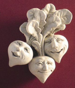 Rowdy Red Radishes Wall Plaque Sculpture