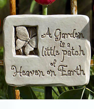 Heavenly Butterfly Garden Plaque