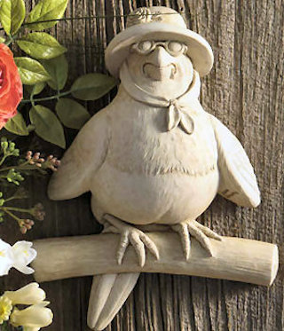 Miss Lovey Dovey Bird Wall Plaque