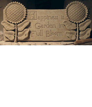 Happiness is a Garden in Full Bloom Plaque