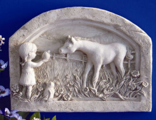New Found Friends Child & Horse Plaque
