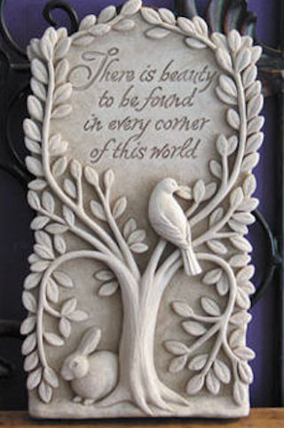 Hidden Beauty Wall Plaque Sculpture