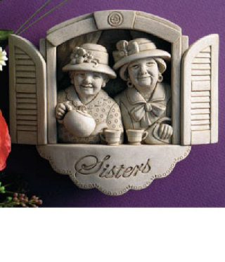Forever Sisters Wall Plaque Sculpture