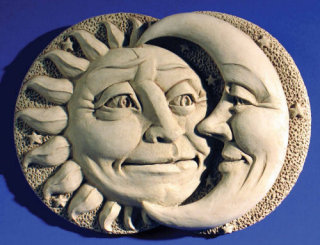 Celestial Attraction Sculptural Wall Plaque