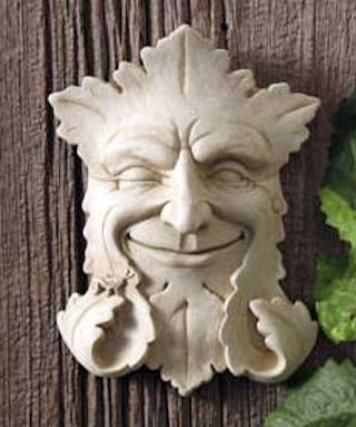 Garden Smile Plaque Mini Greenman By Carruth
