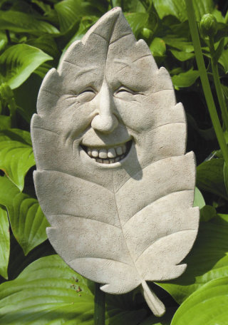 Sammy Shade Greenman Leaf Plaque Statue