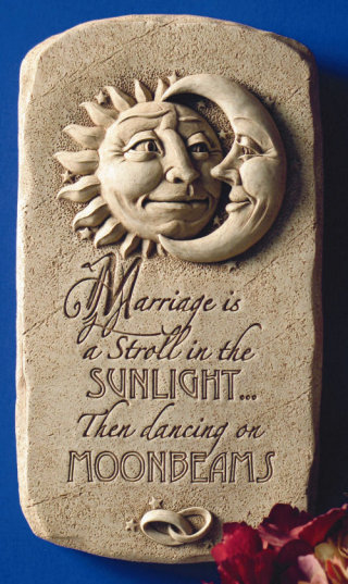 Sunlight & Moonbeams Marriage Wall Plaque